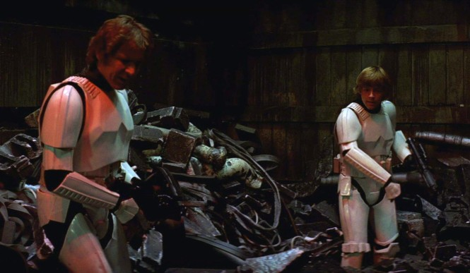 Star Wars trash compactor scene